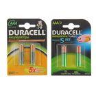Аккумулятор Duracell, AAA, HR03-2BL, 900 мАч, блистер, 2шт.