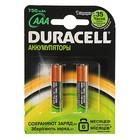 Аккумулятор Duracell, ААА, HR03-2BL, 750 mAh, блистер, 2 шт.