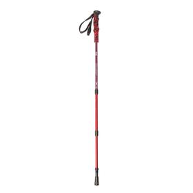 Палка для скандинавской ходьбы телескопическая, 3 секции, алюминий, до 135 см, (1 шт), цвет красно-синий