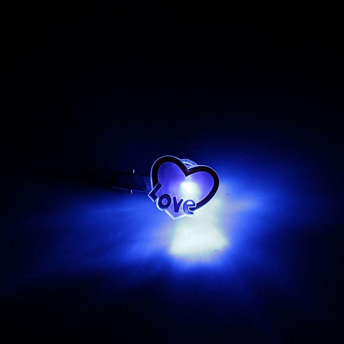 "Зажим световой ""Сердечко"" LOVE"