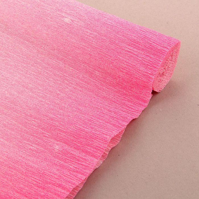 """Бумага креп """"Переход"""", цвет ярко-розовый, 0,5 х 2,5 м"""