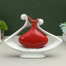 ваза керамика абстракция 32*23,5 см кувшин в цветке красный