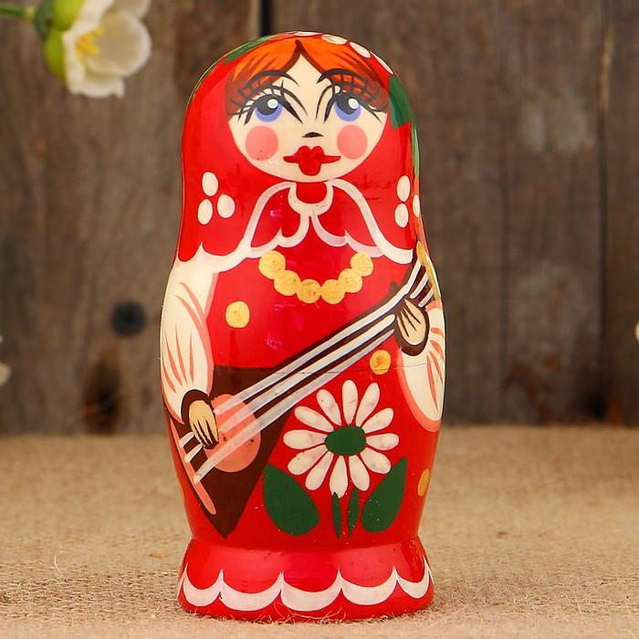 Матрёшка «Концерт», красный микс, 5 кукольная, 12 см 2926889