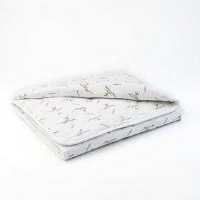 """Одеяло всесезонное Адамас """"Бамбук"""", размер 110х140 ± 5 см, 300 гр/м2, чехол поликоттон, цвет микс"""