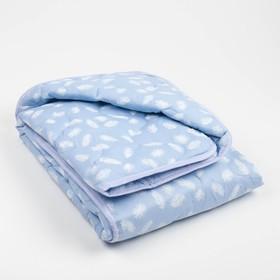 "Одеяло всесезонное Адамас ""Лебяжий пух"", размер 110х140 ± 5 см, 300гр/м2, чехол тик"