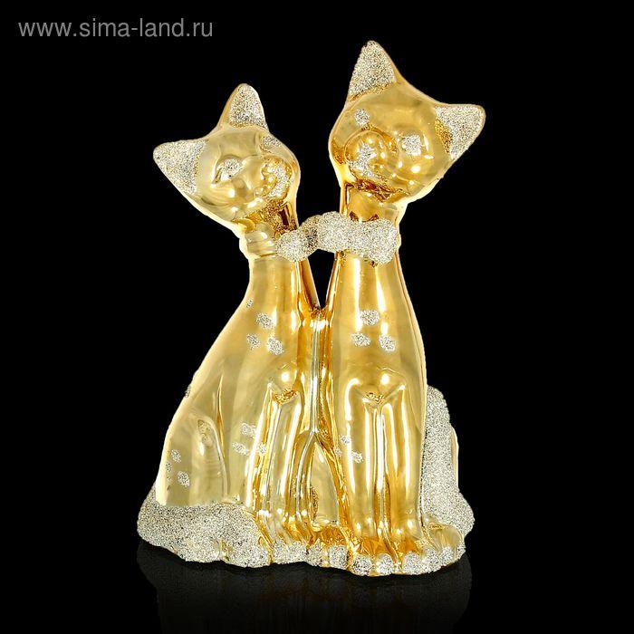 """Сувенир под золото """"Две кошечки"""""""