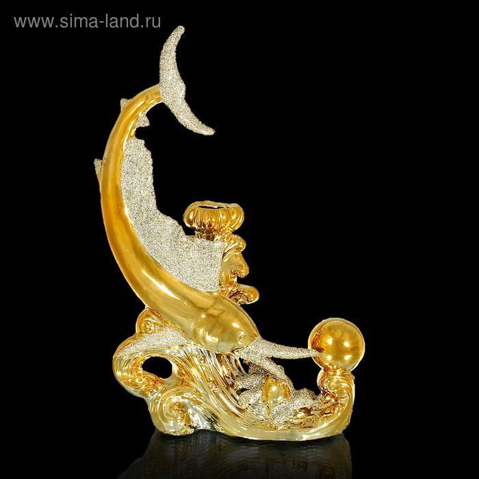 """Сувенир под золото вазон """"Рыба с шаром"""""""