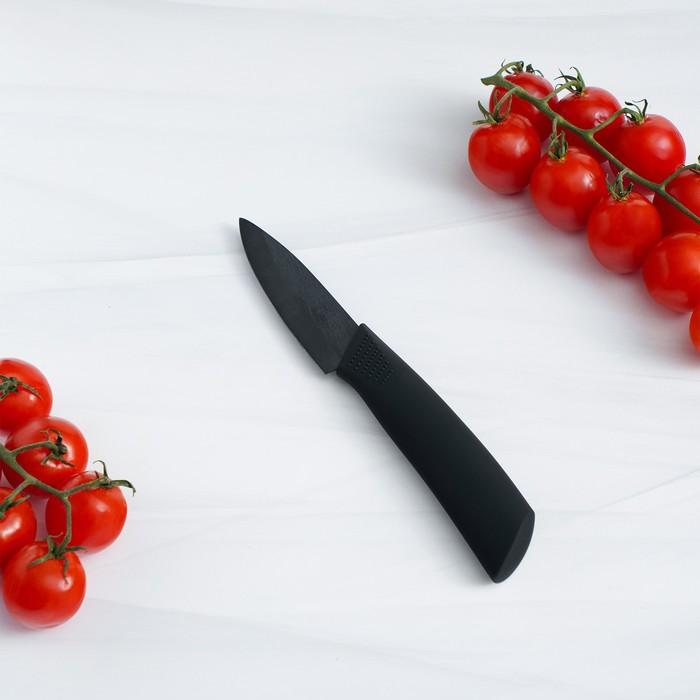 """Нож керамический """"Black"""" лезвие 7,5 см, ручка soft touch"""