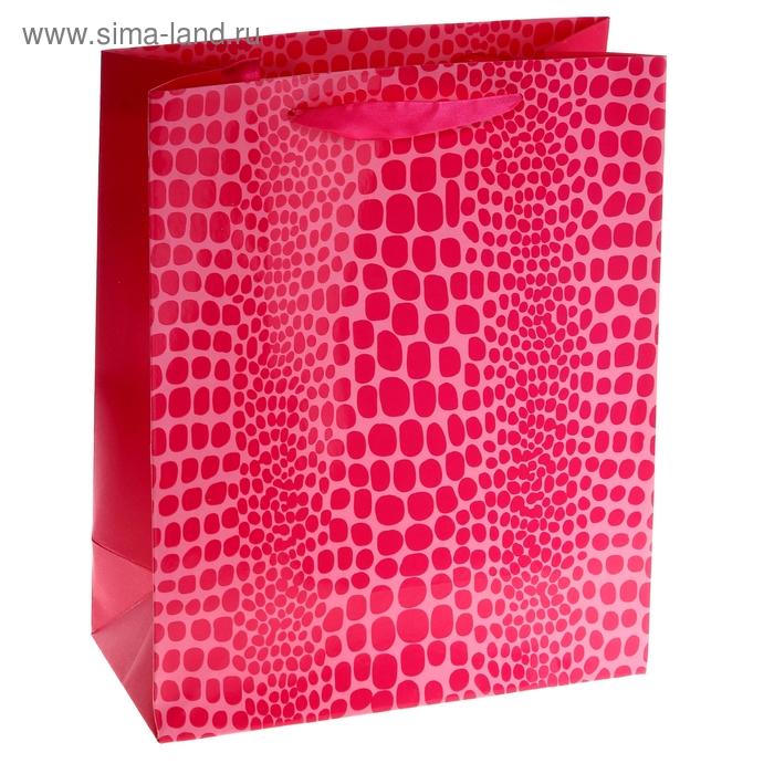 """Пакет ламинированный """"Питон"""", цвет розовый"""