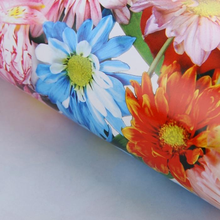 """Бумага упаковочная """"Цветочное ассорти"""", 52 х 76 см"""