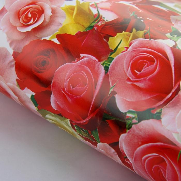 "Бумага упаковочная ""Цветы для любимых"", 52 х 76 см"