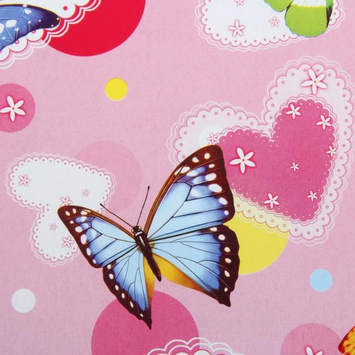 """Бумага упаковочная """"Летящие бабочки"""", 52 х 76 см"""