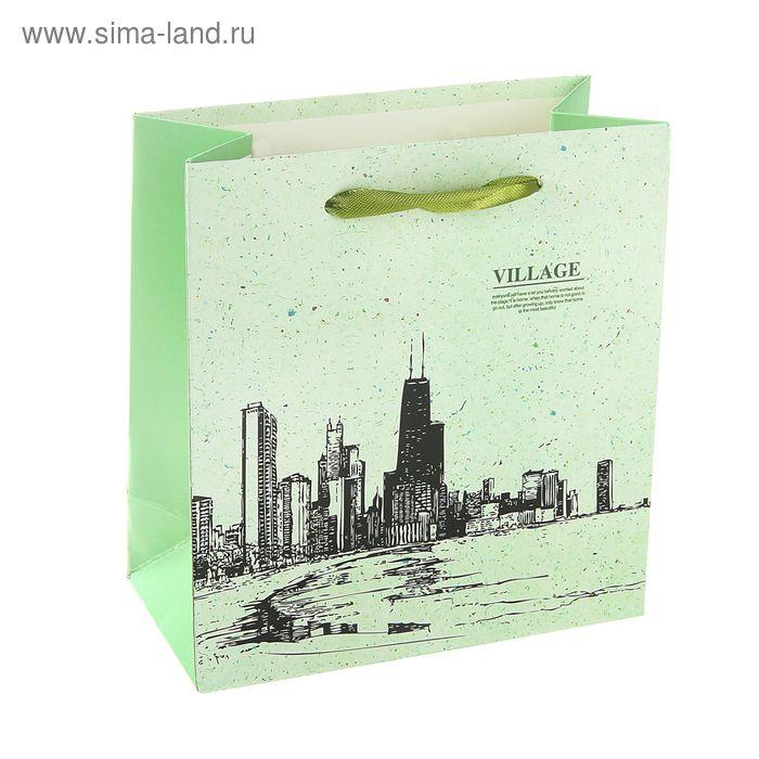 """Пакет ламинированный """"Вилла"""", цвет зеленый"""