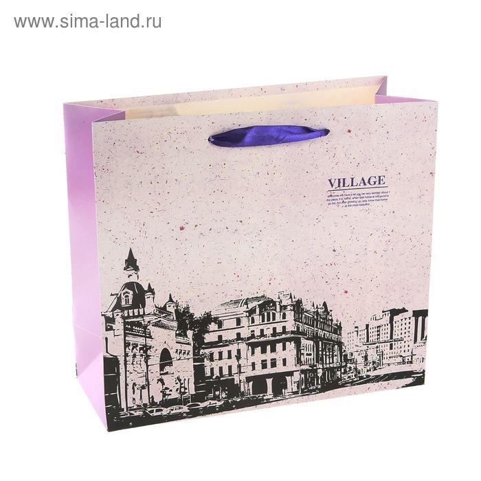 """Пакет ламинированный """"Вилла"""", цвет сиреневый"""