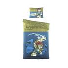 Постельное белье 1,5сп LEGO Chima Lion голубой, 160*220см, 180*240см, 50*70см 2шт, 120 гр/м, ранфорс