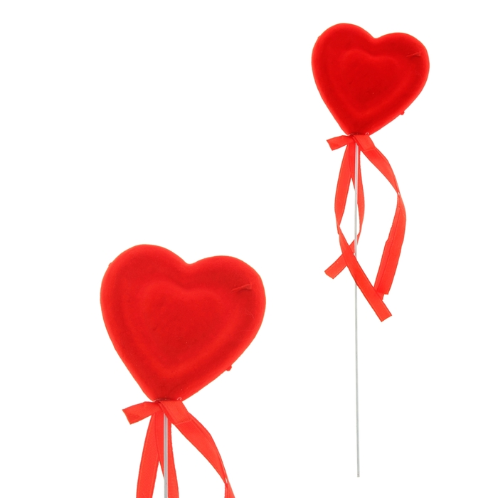 "Сердце на палочке бархатное ""Чувство любви"""