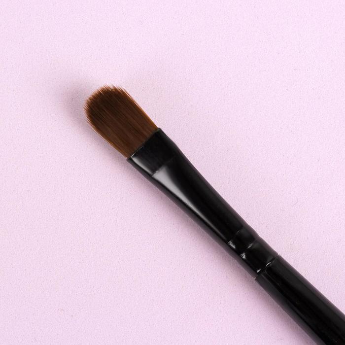Кисть для макияжа универсальная, скруглённая, 17см, цвет чёрный