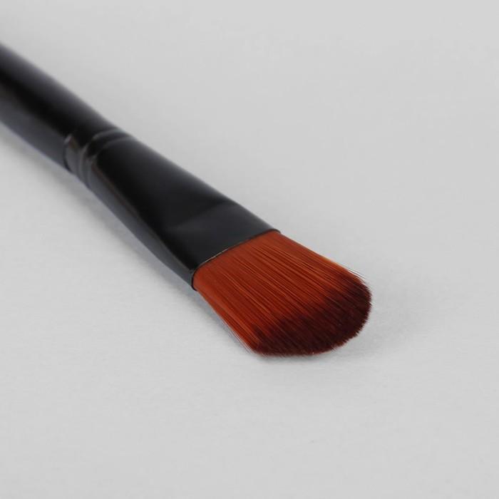 Кисть для макияжа/тонального крема, скруглённая, 18см, цвет чёрный