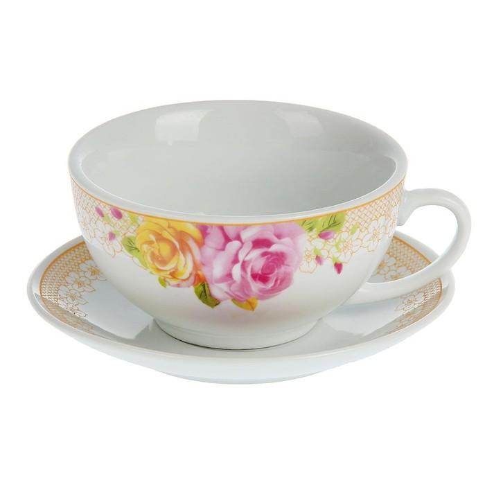 "Сервиз чайный ""Розалинда"", 4 предмета: 2 чашки 240 мл, 2 блюдца, МИКС"