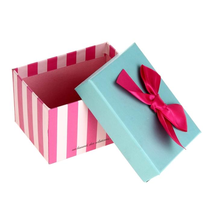 """Коробка подарочная """"Розовая полоска"""", 10 х 7 х 6 см"""