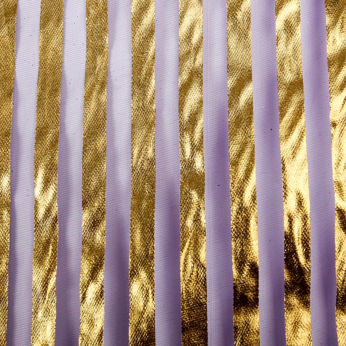 """Органза """"Золотая полоса"""", фиолетовый, 0,48 х 4,5 м"""