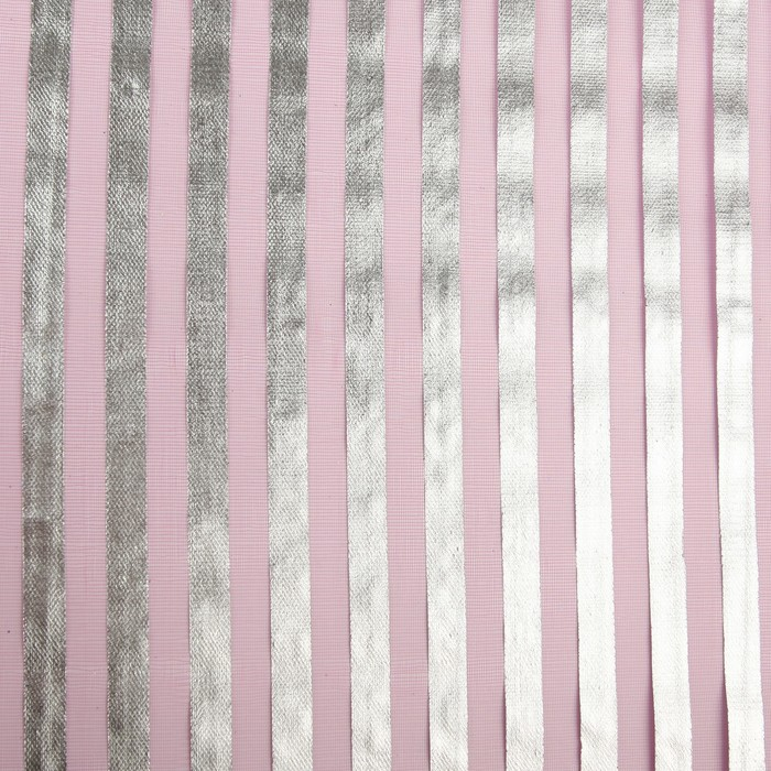 """Органза """"Серебряная полоса"""", малиновый, 0,48 х 4,5 см"""