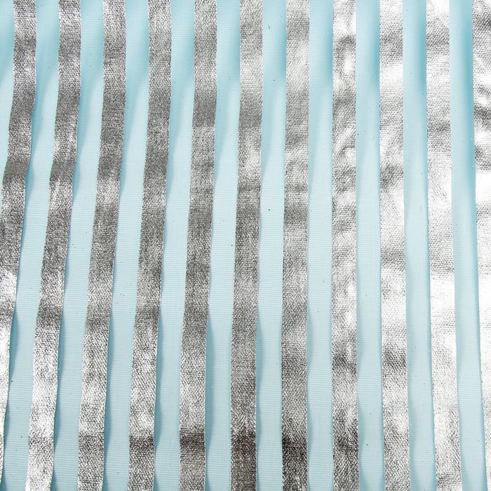 """Органза """"Серебряная полоса"""", голубой, , 0,48 х 4,5 см"""
