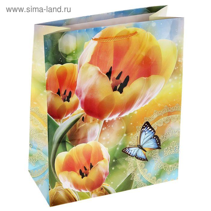 """Пакет ламинированный """"Жёлтые тюльпаны"""""""