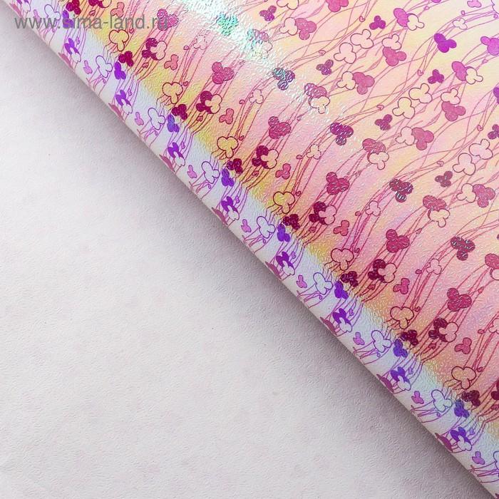 """Бумага упаковочная перламутровая """"Цветочные нити"""", цвет малиновый"""