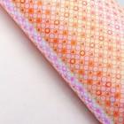 """Бумага упаковочная перламутровая """"Сердце в круге"""", оранжевый, 50 х 70 см"""