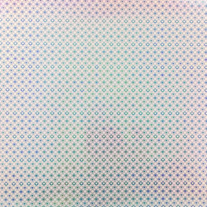 """Бумага упаковочная перламутровая """"Сердце в круге"""", фиолетовый, 50 х 70 см"""
