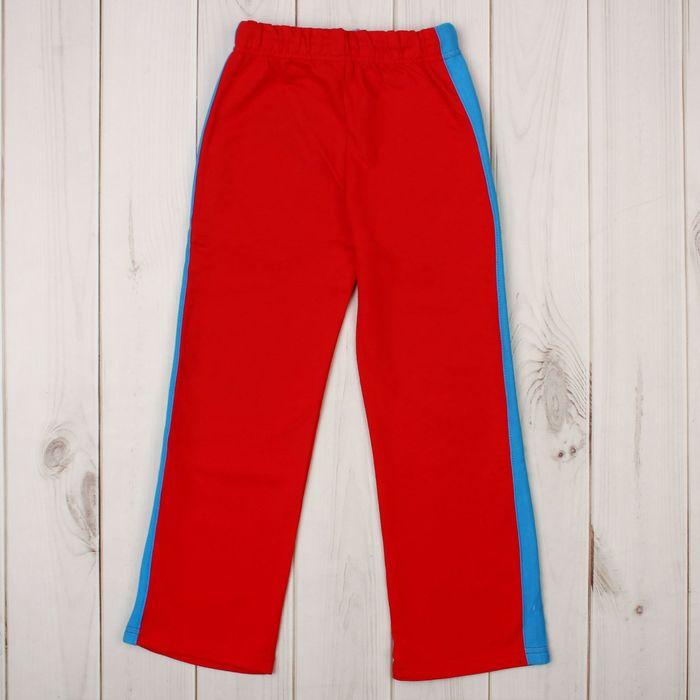 Брюки для девочки, рост 110-116 см, цвет красный