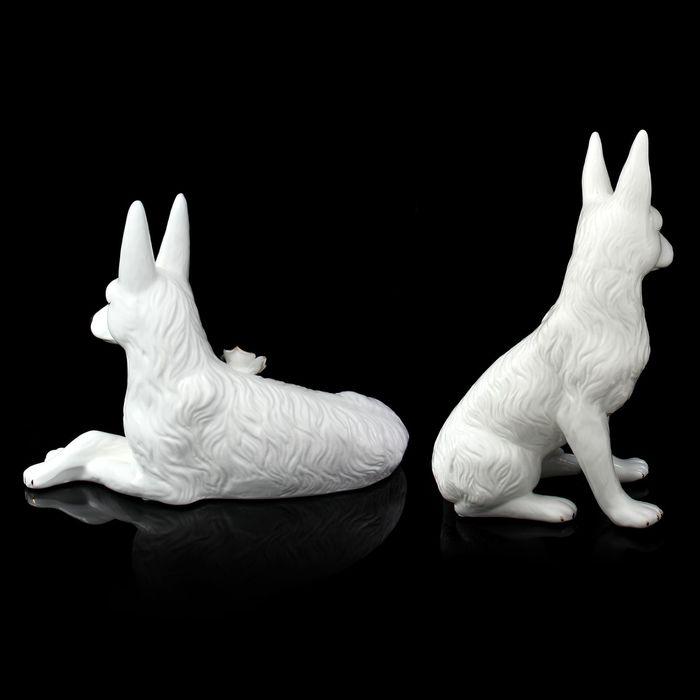 """Сувенир """"Собаки с цветком"""", набор из 2 штук"""