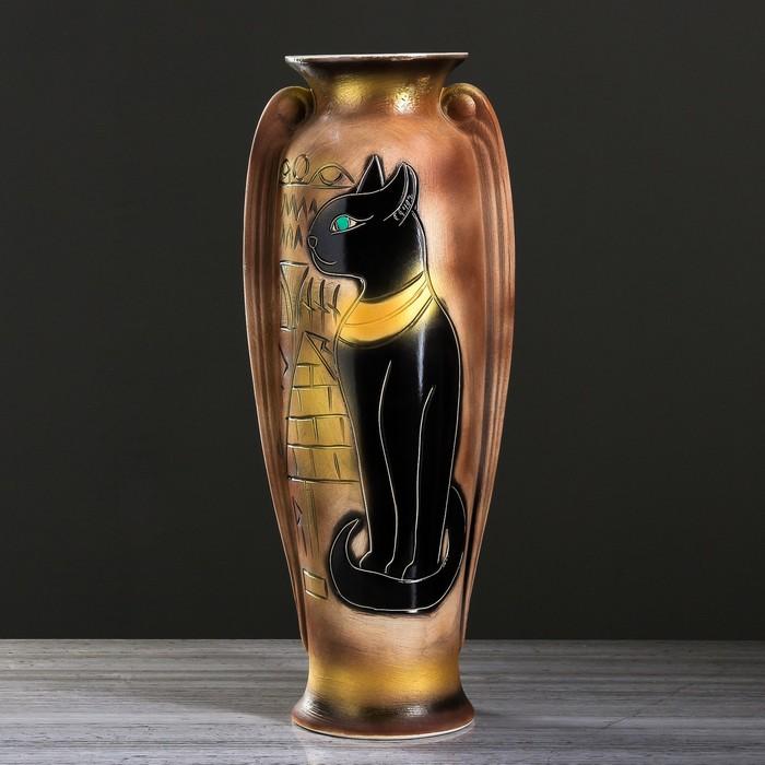 """Ваза напольная форма """"Ева"""" Египетская кошка"""