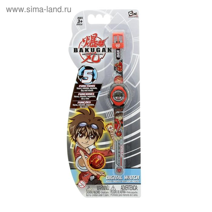 Часы детские наручные Bakugan Dan, электронные, серые