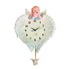 """Часы настенные с маятником, серия: Детские, """"Ангел на крыльях"""", 29х23 см"""