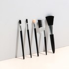 Набор кистей для макияжа, 5 предметов, цвета МИКС