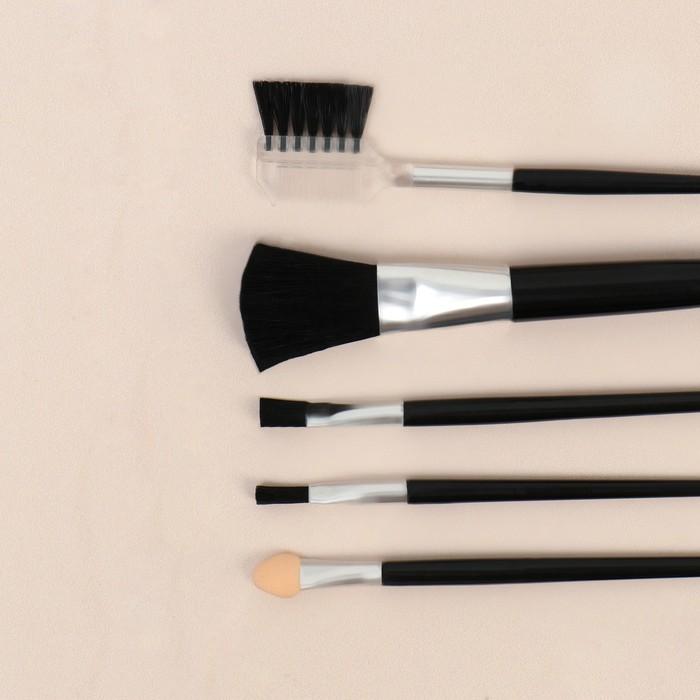 Набор кистей для макияжа, 5 предметов, цвет МИКС
