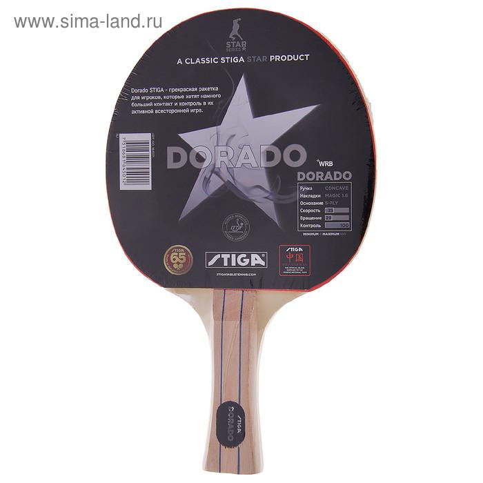 """Ракетка для настольного тенниса """"Stiga Dorado WRB"""", прямая ручка"""