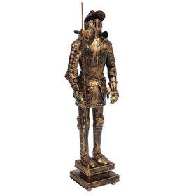 Статуэтка 'Рыцарь в доспехах с пикой и щитом', под бронзу Ош
