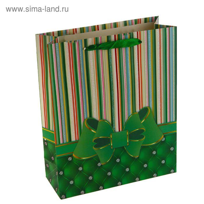 """Пакет ламинированный """"Бант"""", цвет зеленый"""