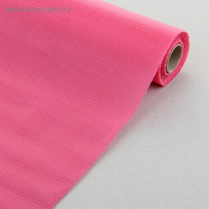 """Флизелин """"Соты"""", цвет ярко-розовый"""