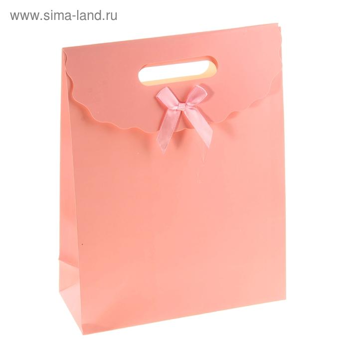 Пакет с клапаном, цвет розовый