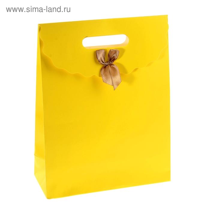 Пакет с клапаном, жёлтый