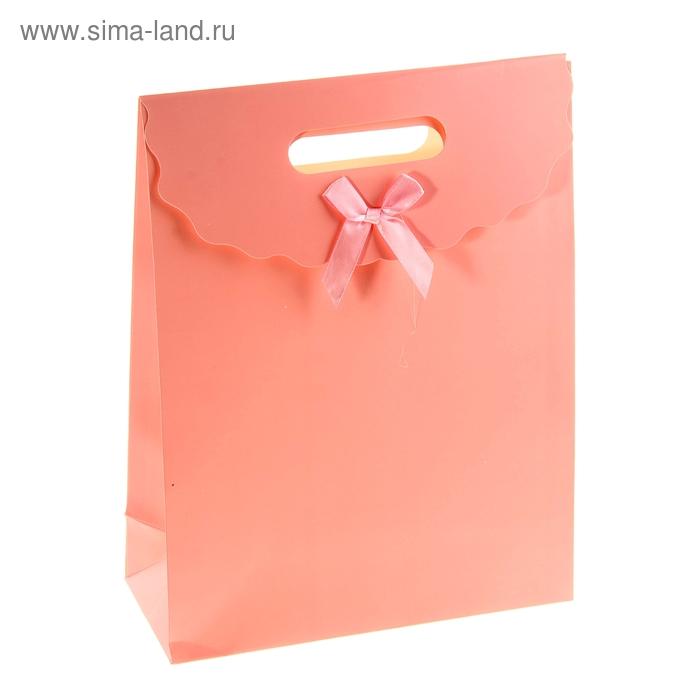 Пакет с клапаном, розовый