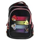 Рюкзак школьный эргономичная спинка Angry Birds 40х30х14 Soft, для мальчика, черный