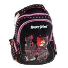 Рюкзак школьный эргономичная спинка Angry Birds 40х30х14 Soft, для девочки, черный