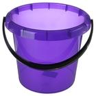 """Ведро пластиковое 7 л """"Омега"""", цвет фиолетовый прозрачный"""