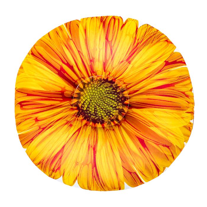 """Мягкая подушка-антистресс """"Цветы"""", цвет оранжевый"""