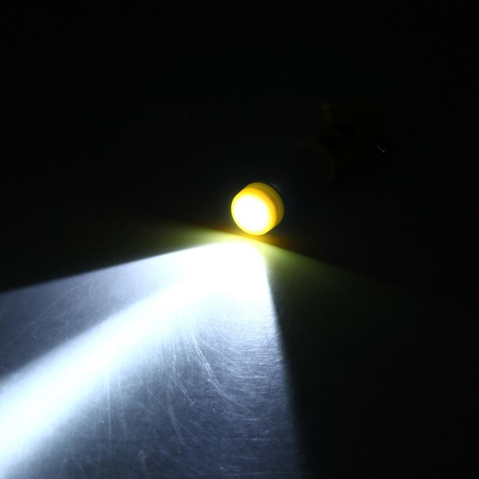 Аварийный молоток, фонарик, нож для ремня безопасности, на магните,  желтый